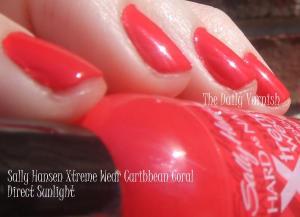 Sally Hansen Xtreme Wear Caribbean Coral 2