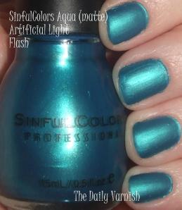 SinfulColors Aqua matte