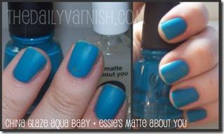 China Glaze - Aqua Baby (Matte)