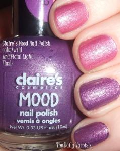Claire's Mood Nail Polish calm wild hot cold
