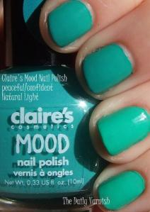 Claire's Mood Nail Polish Peaceful Confident