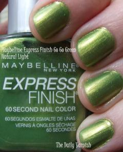 Go Green Express >> Maybelline Express Finish Go Go Green The Daily Varnish