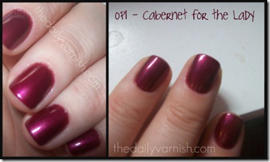 OPI - Cabernet for the Lady
