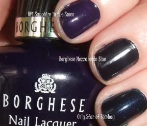 Borghese Mezzanotte Blue comparison