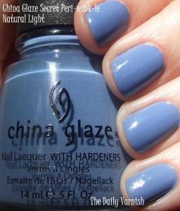 China Glaze Secret Peri-wink-le