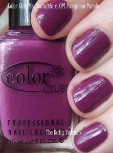 Color Club Ms. Socialite OPI Pamplona Purple