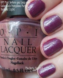 Color Club Ms. Socialite OPI Pink before you Leap