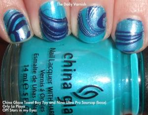China Glaze Towel Boy Toy water marble