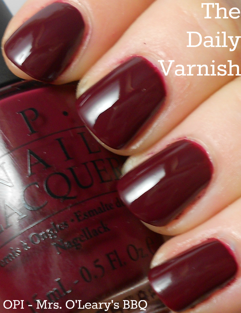 opi – mrs. o'leary's bbq | the daily varnish