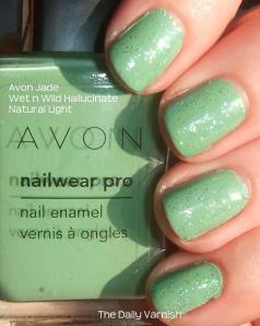 Avon Jade with Wet n Wild Hallucinate