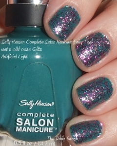 Sally Hansen Fairy Teal wet n wild Glitz