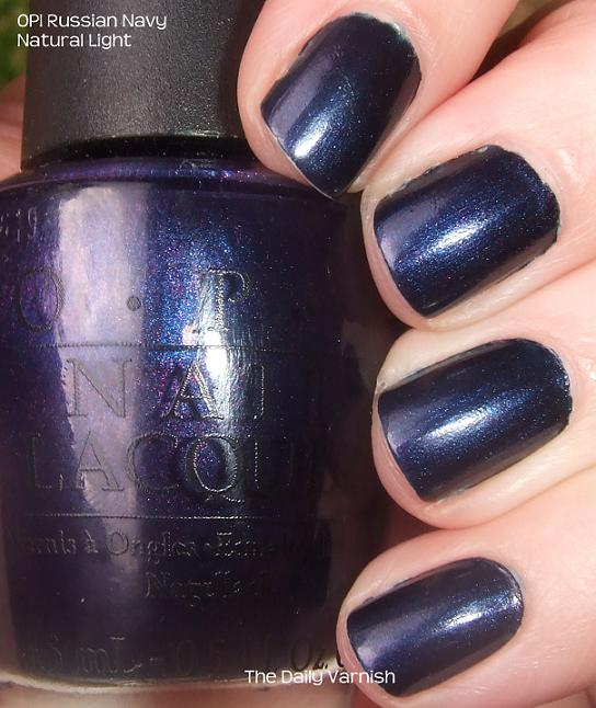 OPI Russian Navy, Free Shipping at Nail Polish Canada