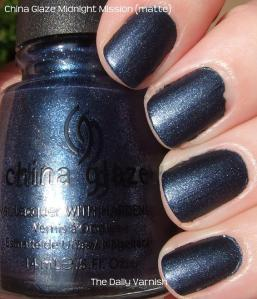 China Glaze Midnight Mission matte