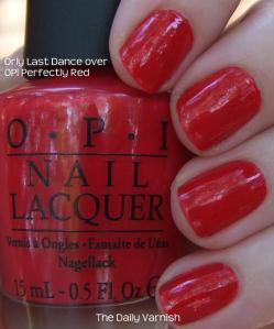 OPI Perfectly Red Orly Last Dance
