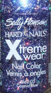 Sally Hansen Cosmic Blue bottle
