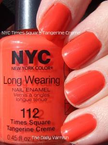 NYC Times Square Tangerine Creme
