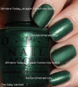 OPI Here Today Aragon Tomorrow Revlon Emerald City