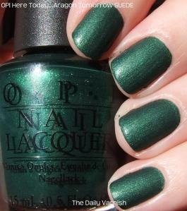 OPI Here Today...Aragon Tomorrow SUEDE