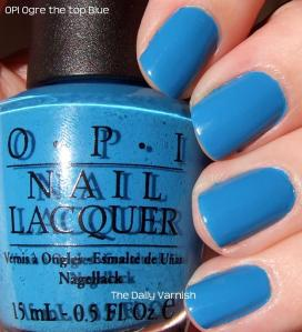 OPI Ogre the top Blue