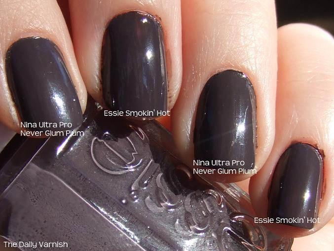 Essie Smokin\' Hot dupe: Nina Ultra Pro Never Glum Plum | The Daily ...