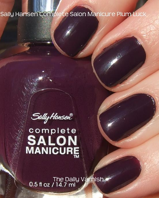 Sally Hansen Complete Salon Manicure Plum Luck | The Daily Varnish