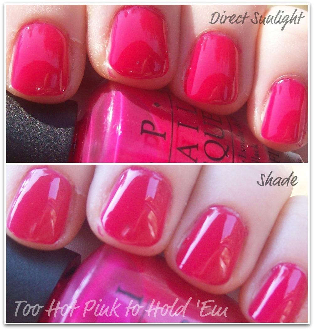 OPI – Too Hot Pink to Hold 'Em – The Daily Varnish  Opi Nail Polish Hot Pink