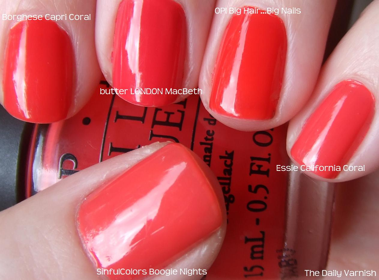 my favorite coral cremes a comparison � the daily varnish