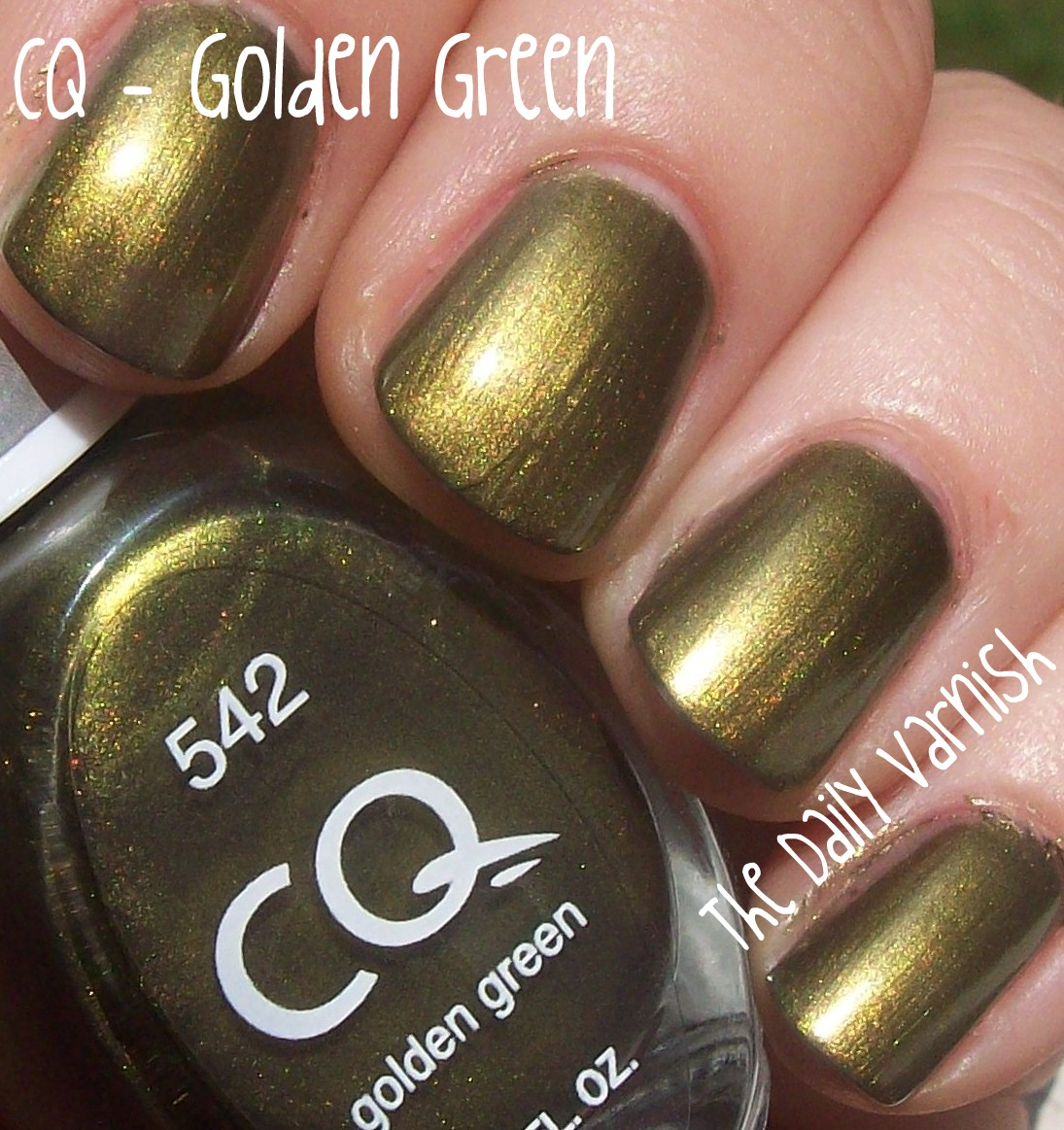 CQ – Golden Green – The Daily Varnish