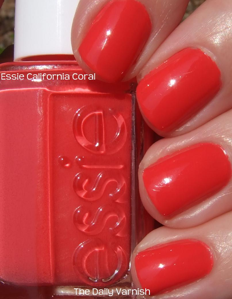 essie california coral � the daily varnish