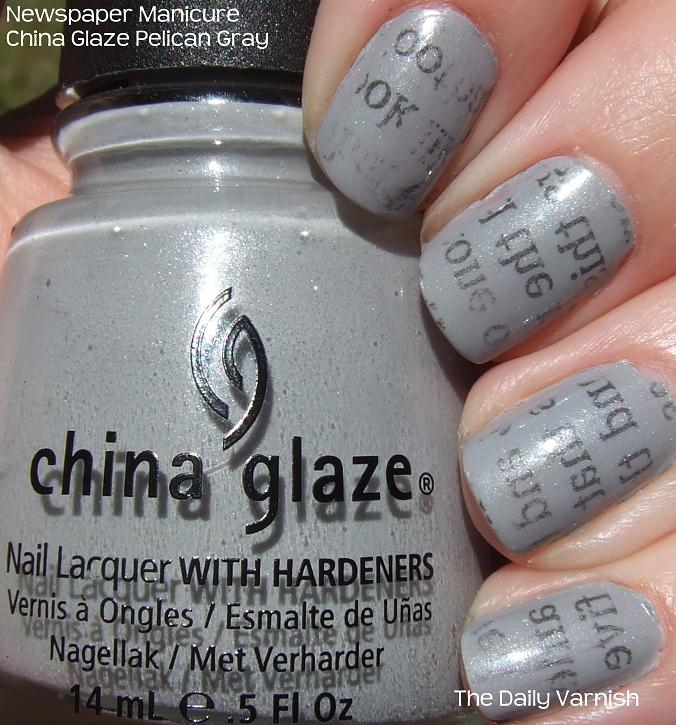 Newspaper Print Manicure – The Daily Varnish