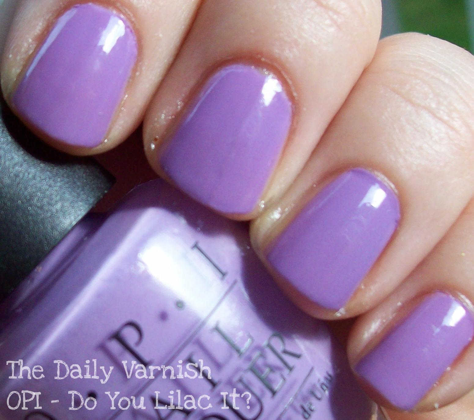 Lilac Nail Color: The Daily Varnish