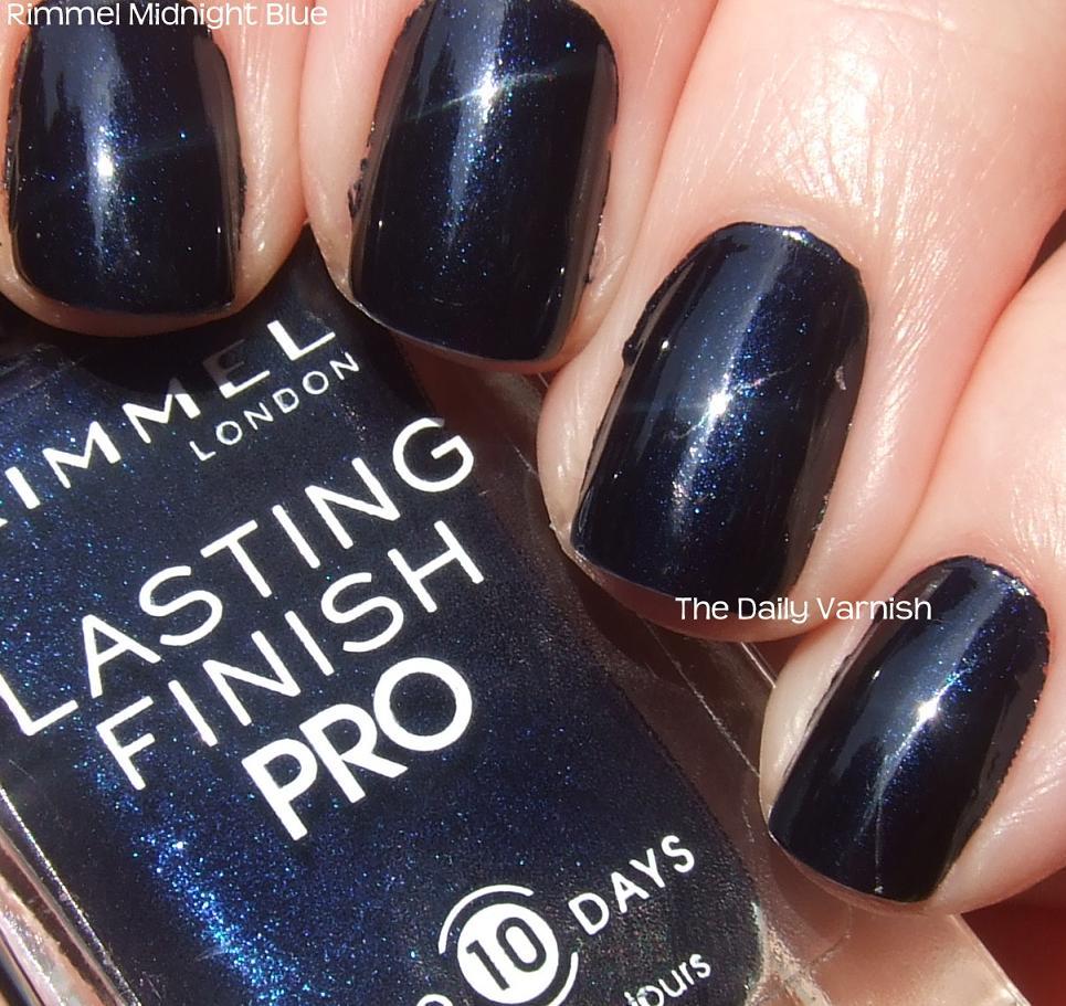 Nail Art Midnight Blue: Rimmel Midnight Blue