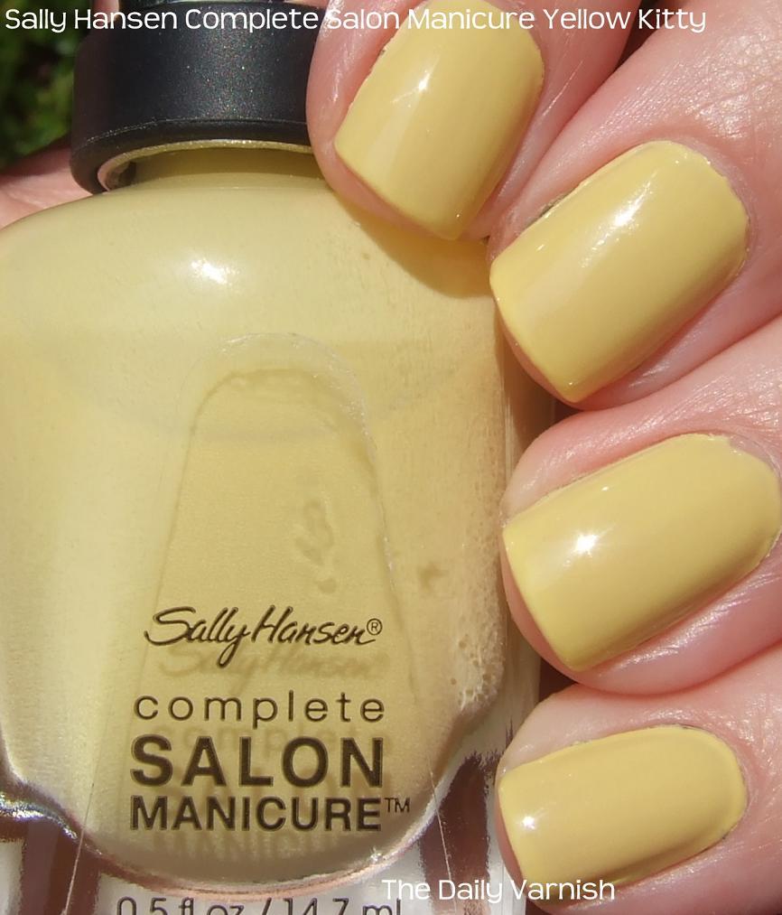 Sally Hansen Complete Salon Manicure Yellow Kitty | The Daily Varnish