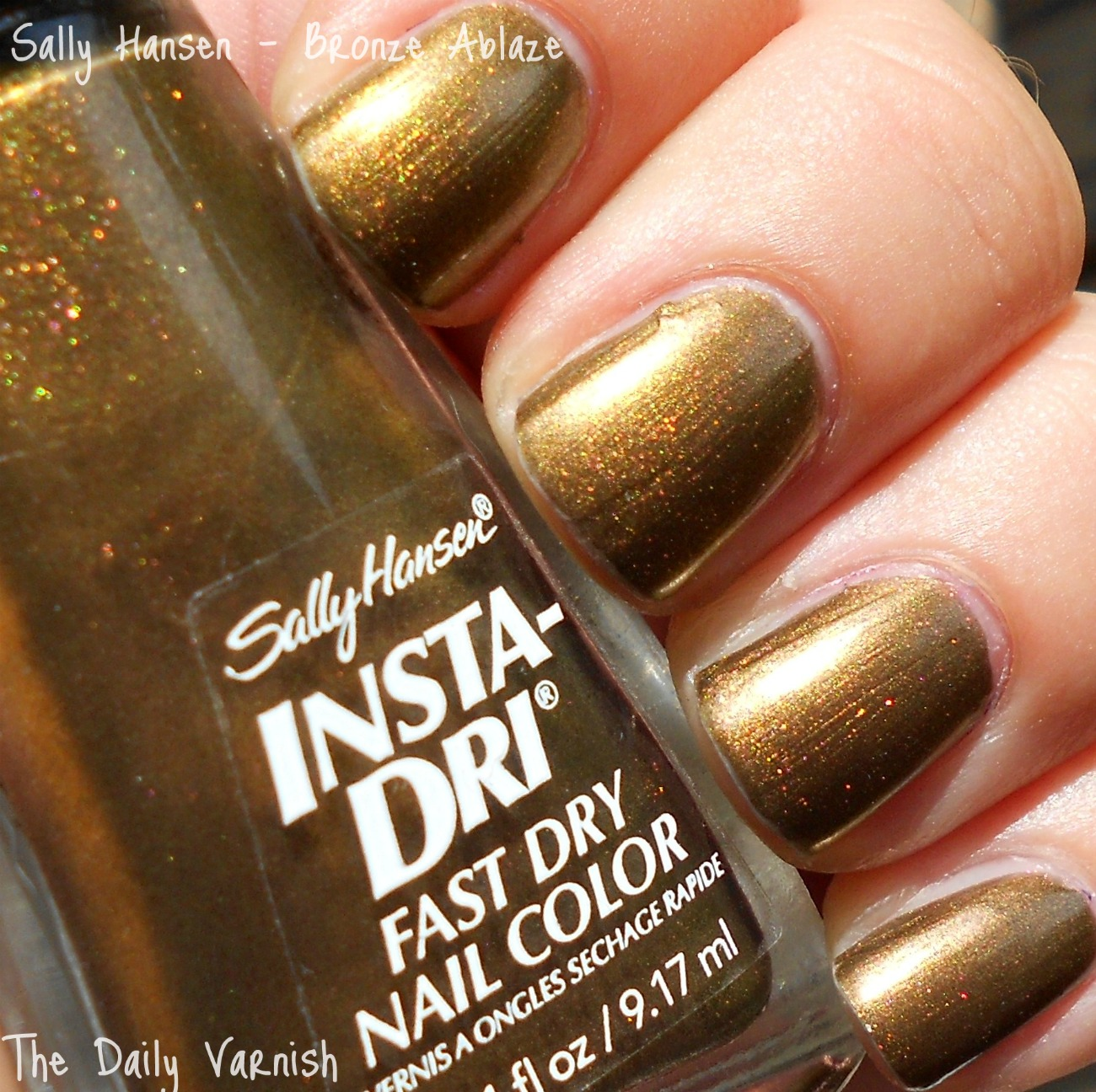 Nail Polish Colors Bronze: Sally Hansen Insta-Dri – Bronze Ablaze