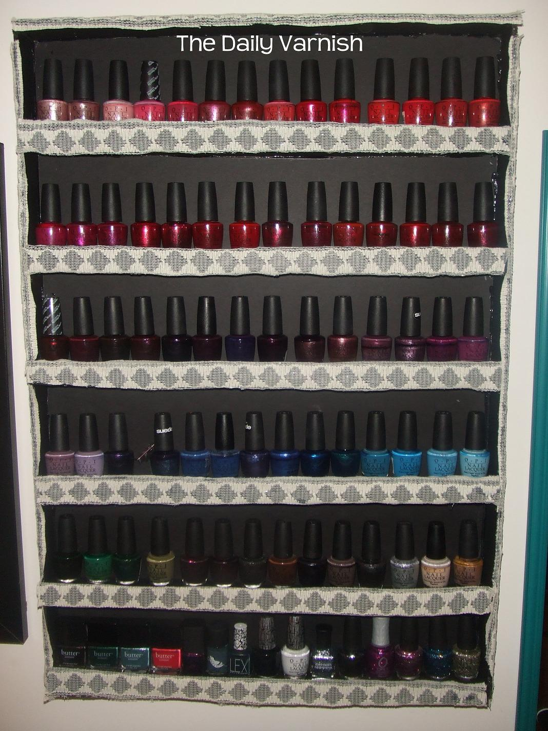 nail polish display rack diy