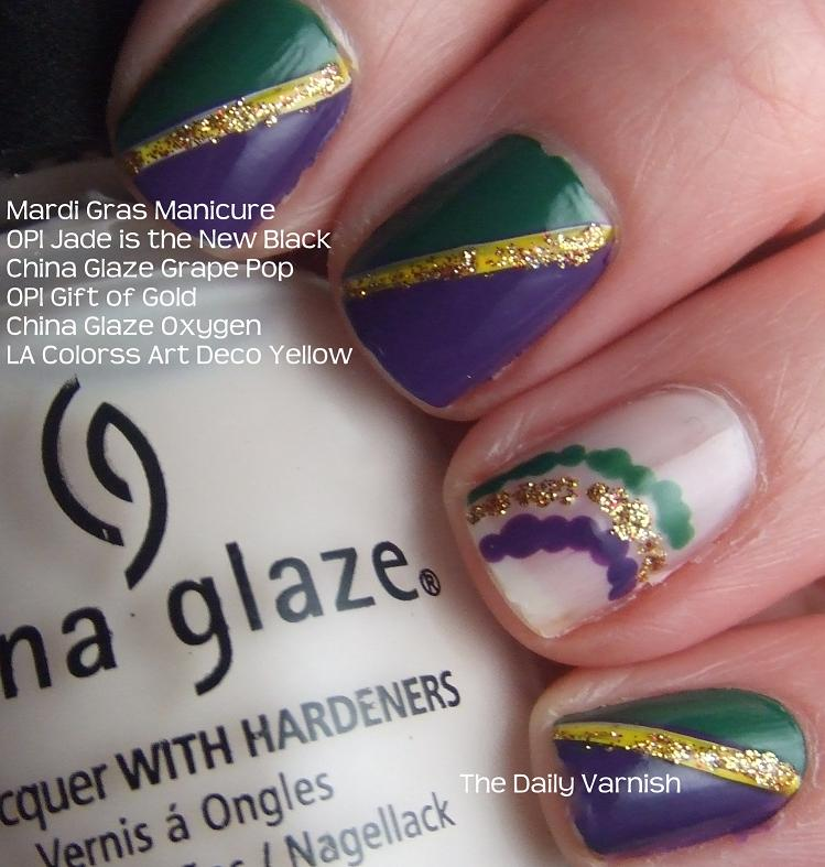 Nail Art: Mardi Gras 2012 | The Daily Varnish