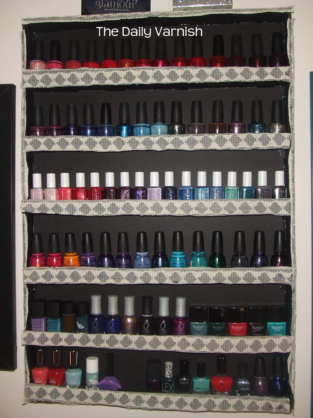 nail polish storage and organization 2012 the daily varnish. Black Bedroom Furniture Sets. Home Design Ideas