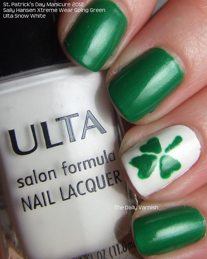 Nail Art: St. Patrick\'s Day Shamrocks – The Daily Varnish