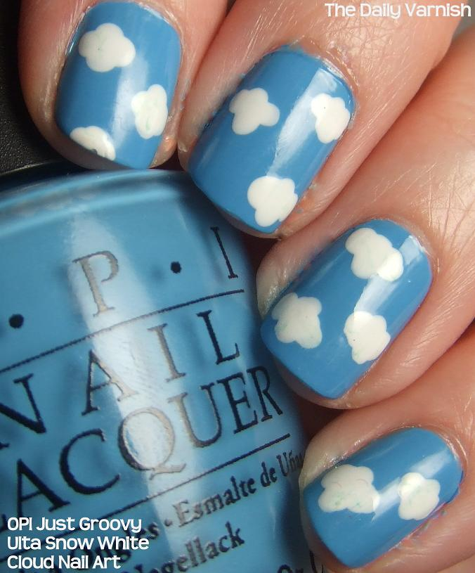 Nail Art Clouds The Daily Varnish