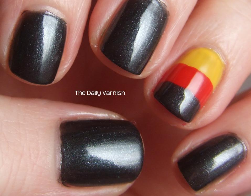 You ... - Nail Art: German Flag – The Daily Varnish