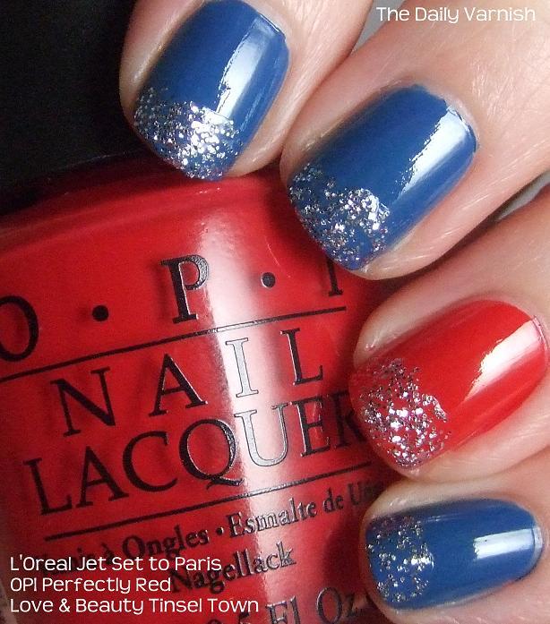 Manicure Idea 1 Red Glitter
