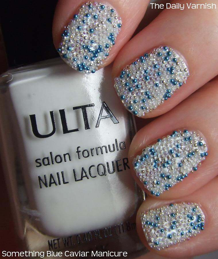 Caviar Nails: Nail Art: Something Blue Caviar Manicure