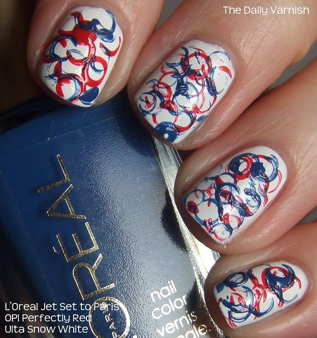 Patriotic Nail Polish Strips Hession Hairdressing
