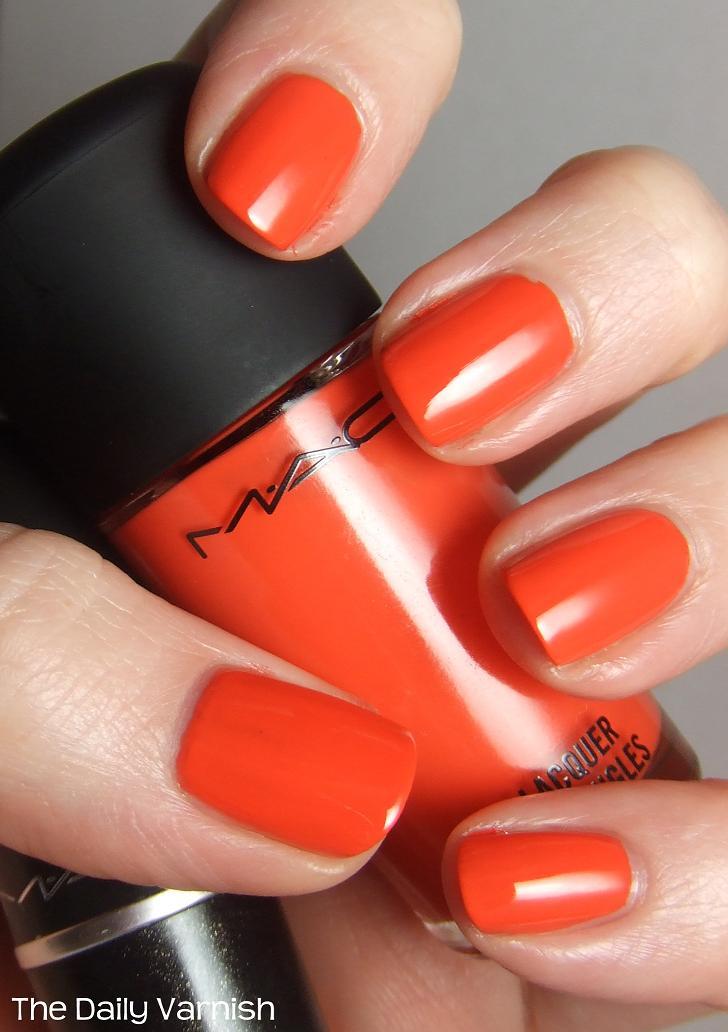 MAC Morange (+ a comparison to the lipstick!) | The Daily Varnish