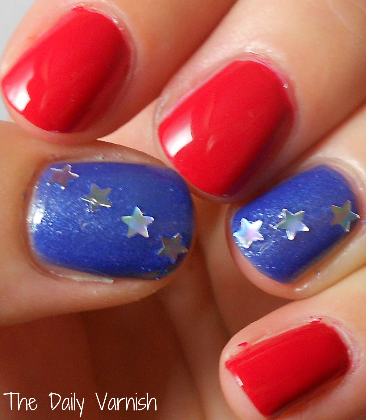 Late Night Nail Art: Quick & Easy Patriotic Mani!