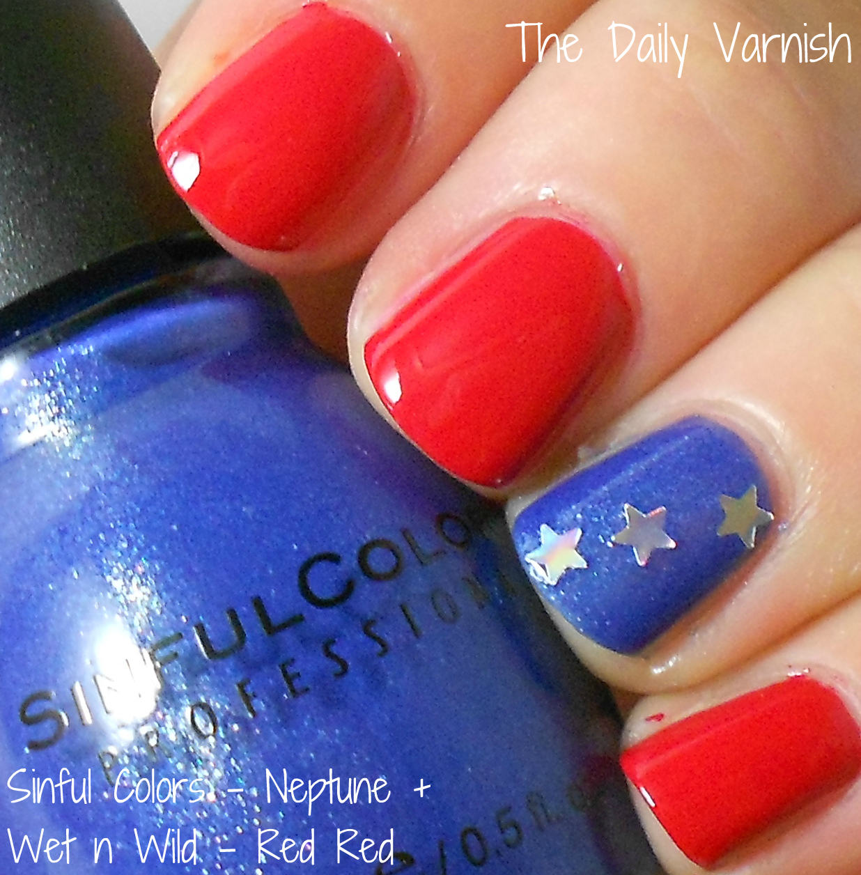 Late night nail art quick easy patriotic mani the daily varnish you prinsesfo Images