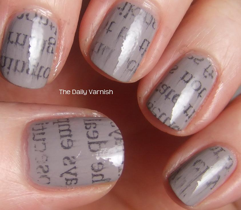 DIY Newspaper Print Manicure – The Daily Varnish