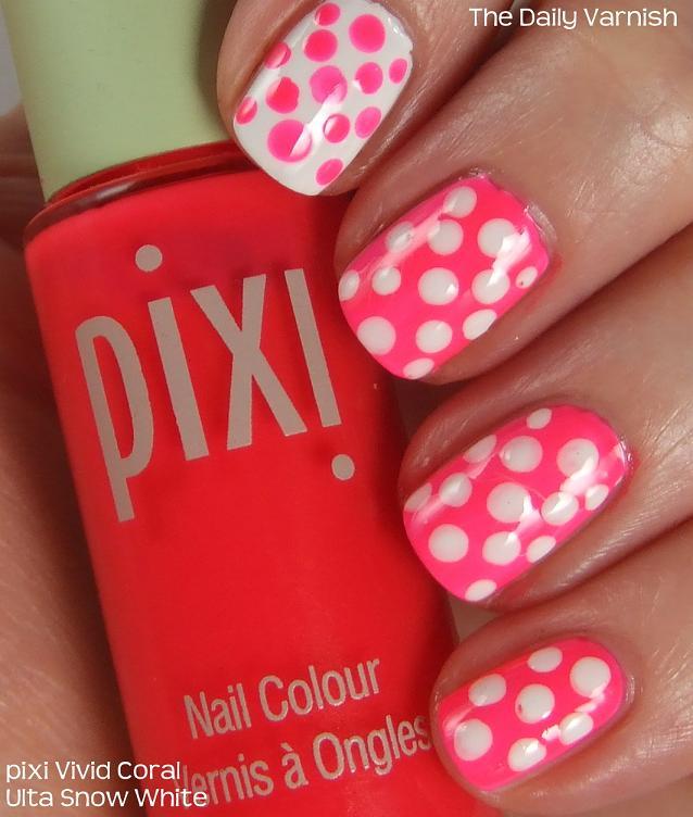 Polka Dot Nail Art: Nail Art: Vivid Polka Dots