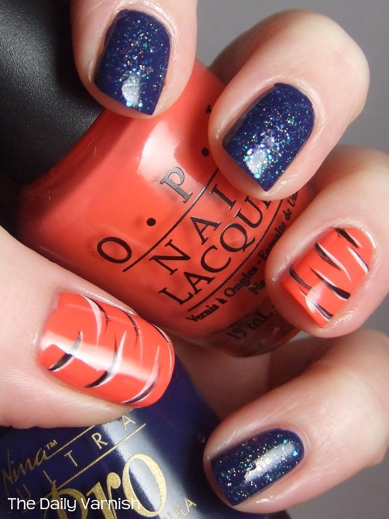 Detroit tigers nails!!! | Nails!!! | Pinterest | Tiger nails, Tiger ...