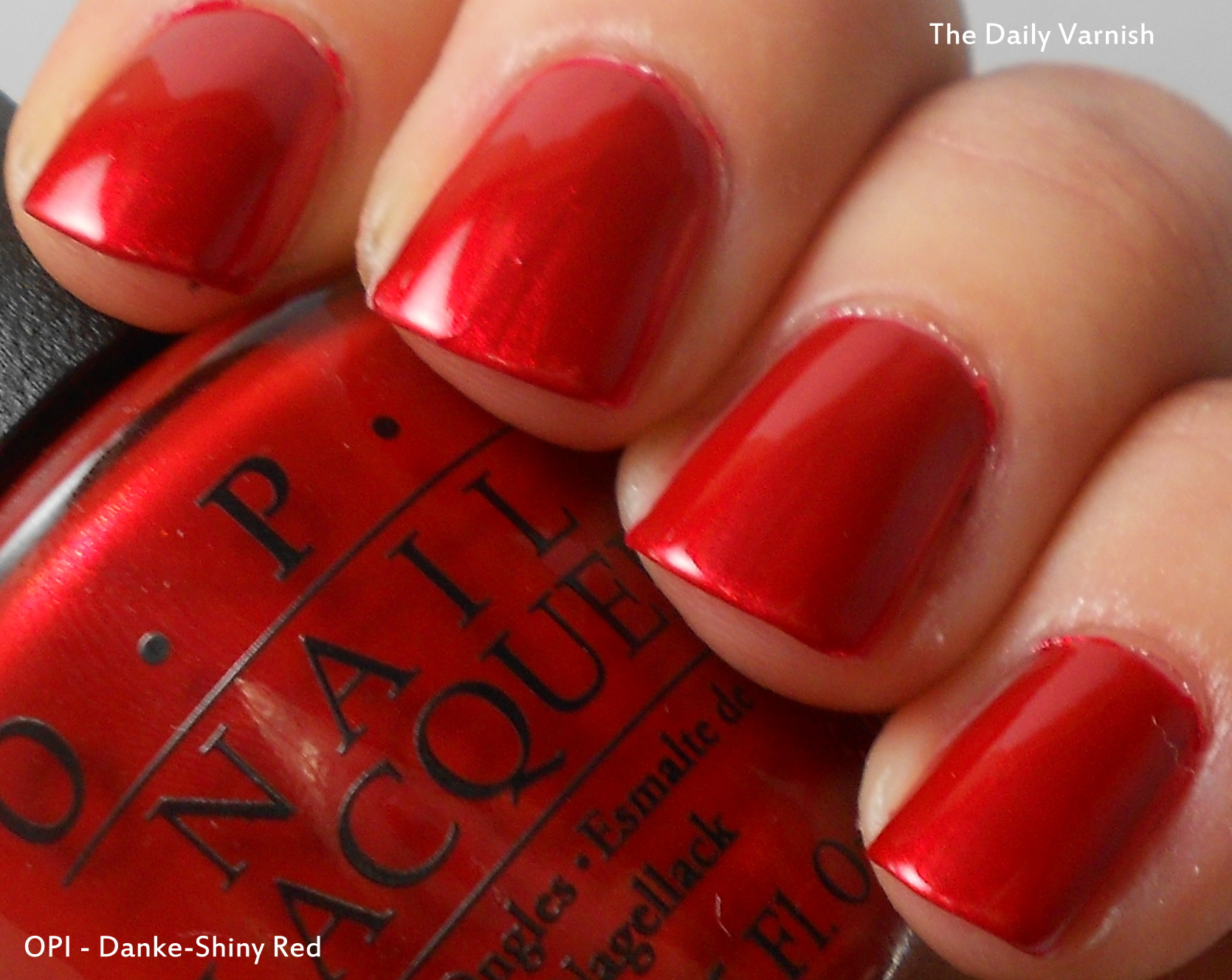 Opi danke shiny red